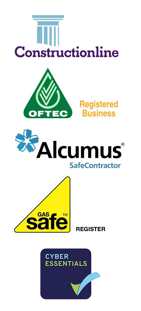 ConstructionLine, Oftec, Safe Constructor and Gas Safe logos